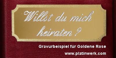 Gravurservice Goldene Rose