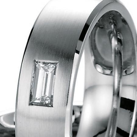 Eheringe Diamant Baguette-Schliff