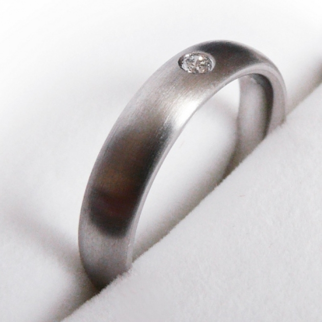 Partnerring Platinring mit Diamant